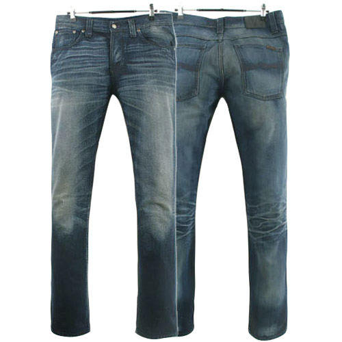 NUDIE JEANS GRIM TIM ORG DOUBLE  TROUBLE ITALY 누디진 그림팀 청바지 데님팬츠 SIZE 31 루스, ROOS