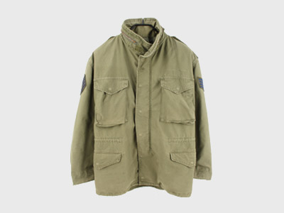 [중고] 70'S ORIGINAL USA M-65 FIELD JACKET MEDIUM REGULAR (100) 루스, ROOS