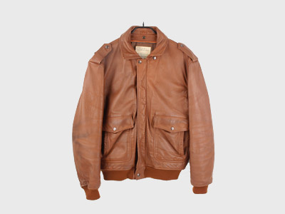 [중고] HOUSTON A-2 LEATHER FLIGHT JACKET (100) 루스, ROOS