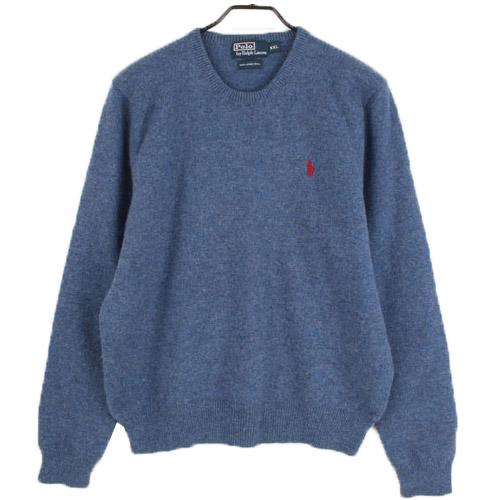 [중고] POLO 폴로랄프로렌 100% 울 니트 스웨터 (97) 루스, ROOS