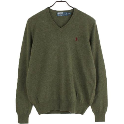 [중고] POLO 폴로랄프로렌 100% 울 니트 스웨터 (95) 루스, ROOS