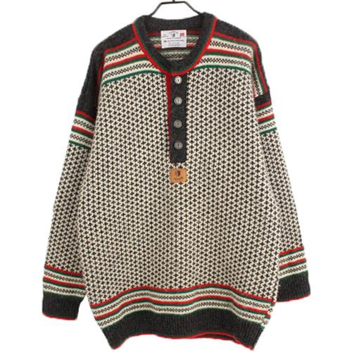 [중고] JANUS NORWAY 야누스 100% 울 니트 스웨터 (100) 루스, ROOS