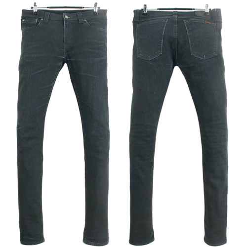 [NUDIE JEANS]SKINNY SAM ORG BACK IN BLACK ITALY 누디진 스키니샘 데님팬츠 (29~30) 루스, ROOS