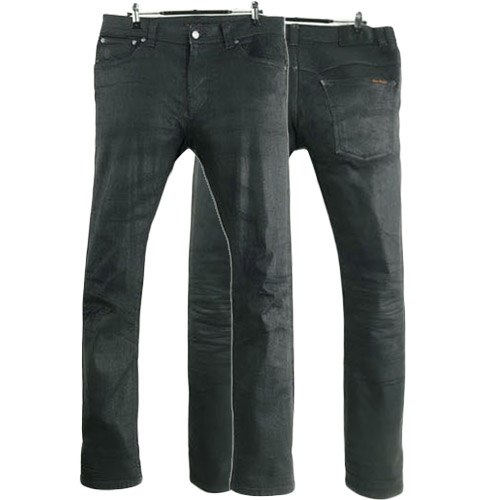 NUDIE JEANS THIN FINN BACK 2 BLACK ITALY 누디진 씬핀 드블코 팬츠 SIZE 32 루스, ROOS