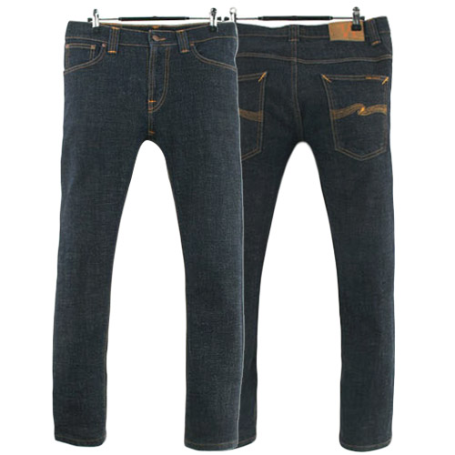 NUDIE JEANS THIN FINN DRY TWILL ITALY 누디진 씬핀 청바지 데님팬츠 SIZE 30 루스, ROOS