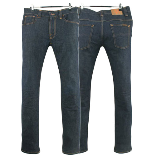 NUDIE JEANS THIN FINN DRY TIGHT BROKEN ITALY 누디진 씬핀 청바지 데님팬츠 SIZE 30 루스, ROOS