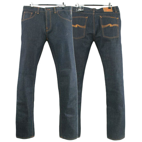NUDIE JEANS BIG BENGT DRY HEAVY ORGANIC ITALY 누디진 오가닉 청바지 데님팬츠 SIZE 32 루스, ROOS