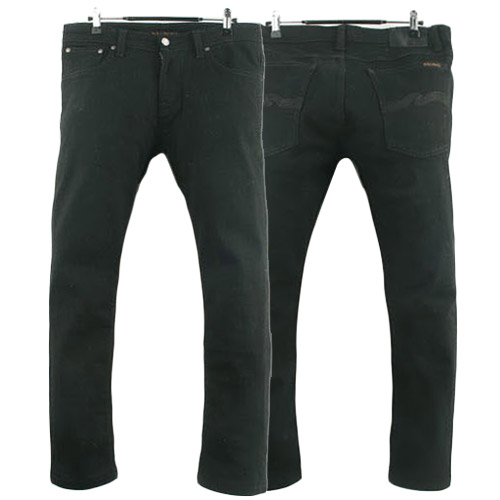 NUDIE JEANS TIGHT TERRY EVER BLACK TUNISIA 누디진 청바지 데님팬츠 SIZE 32 루스, ROOS