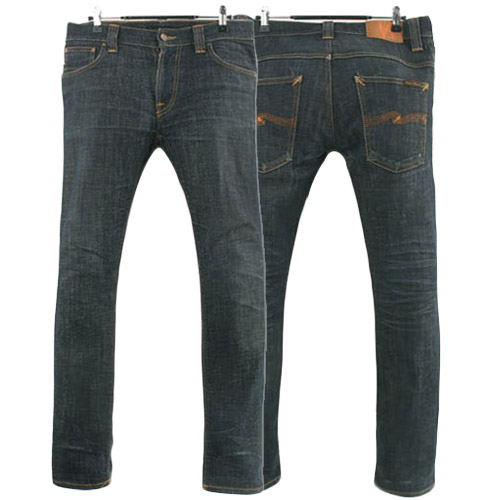 NUDIE JEANS THIN FINN DRY TWILL ITALY 누디진 씬핀 청바지 데님팬츠 SIZE 31 루스, ROOS